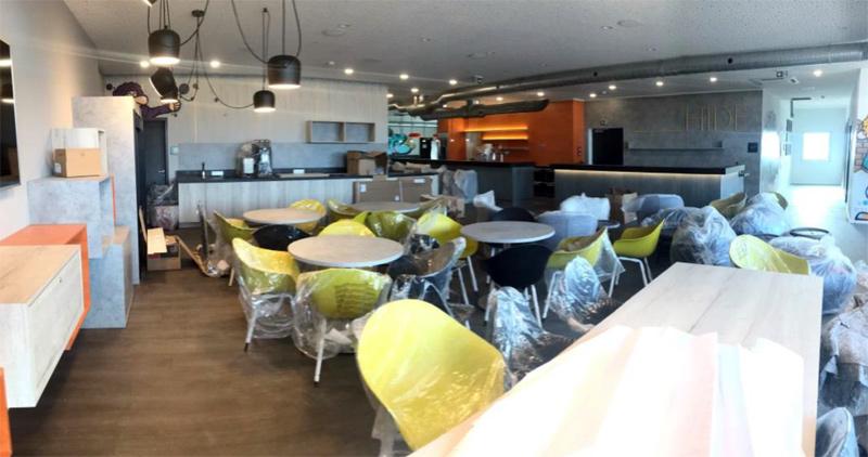 Lobby Niu Hide Hotel, in Fertigstellung