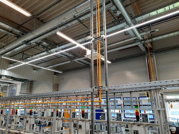 Versorgung der Linien mit technischen Gasen