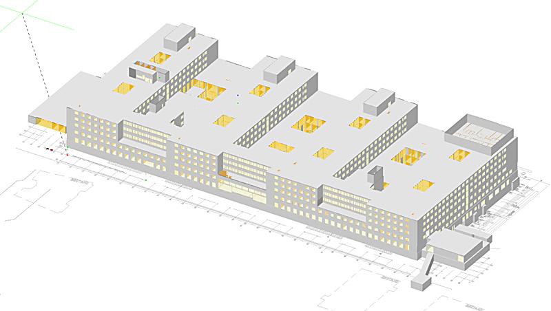 Neubau Zentralbau auf dem Gelände der Helios Kliniken in Wiesbaden