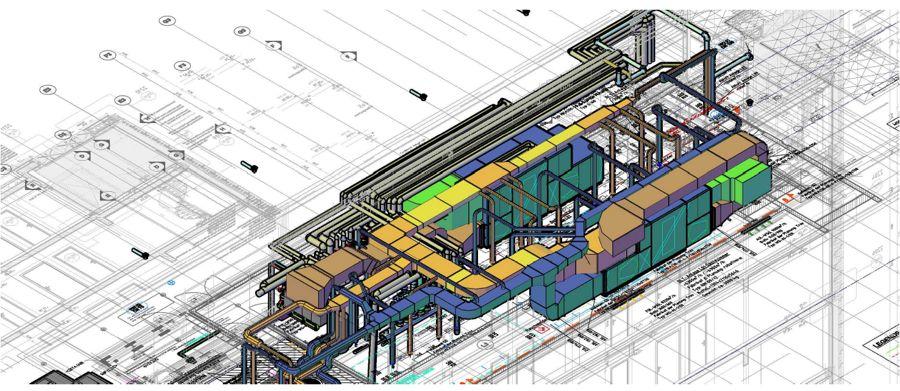 3-D-Planung Technikzentrale Lindley Hotel